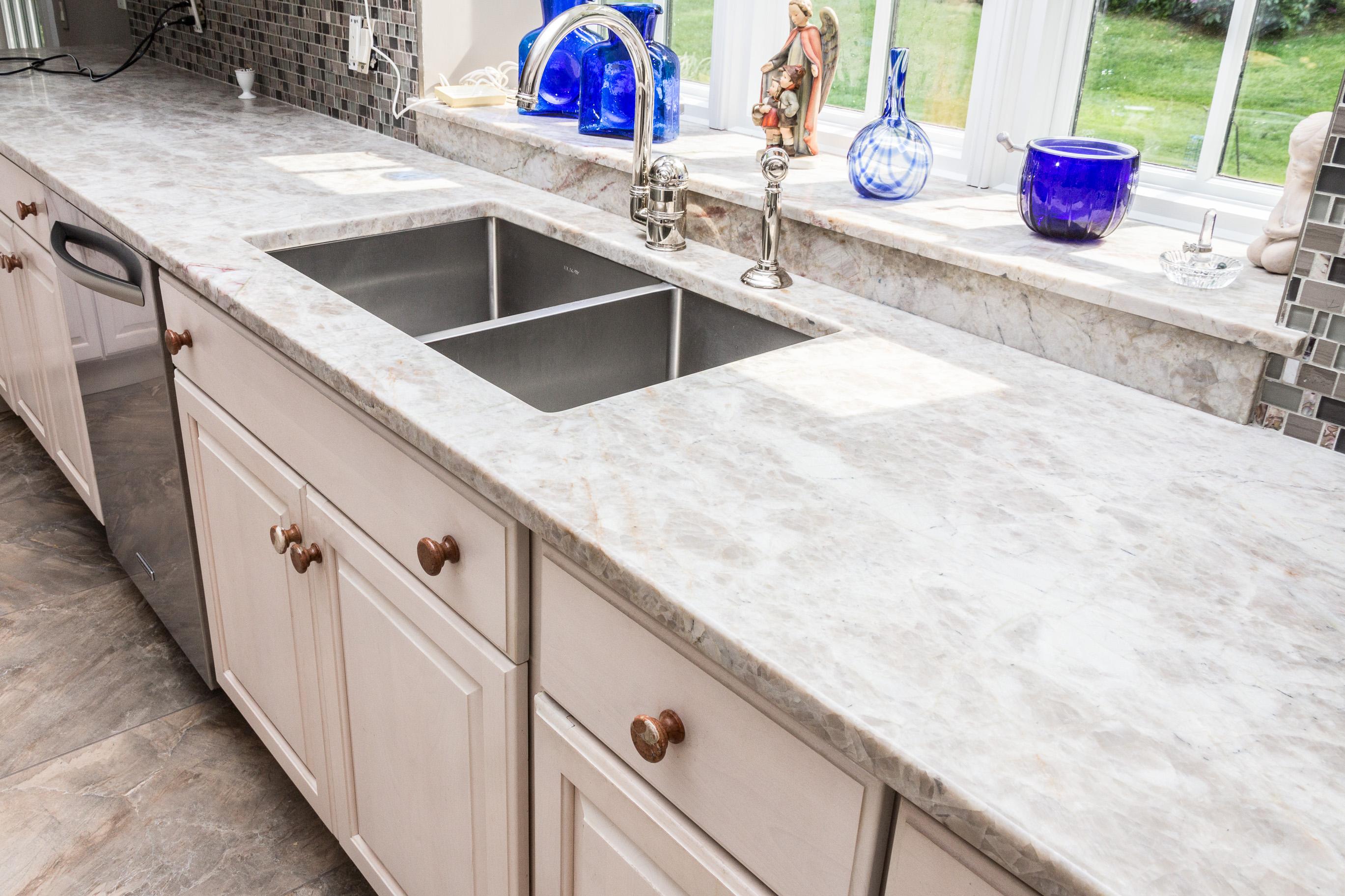 Northern Granite Madre Perla Quartzite Kitchen Counter Top Perimeter