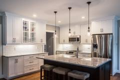 Northern Granite Super White Extra Quartzite Kitchen