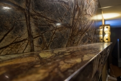 Northern Granite Rainforest Brown Marble BarArea