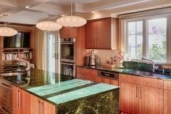Northern Granite Verde Mare Marble Kitchen