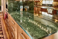 Northern Granite Verde Mare Marble Kitchen